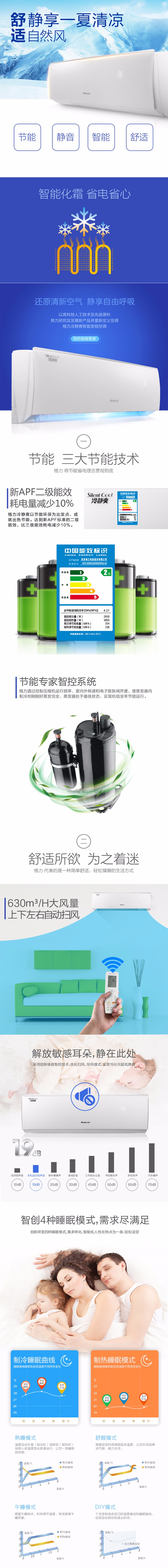 格力冷静爽变频空调产品说明;