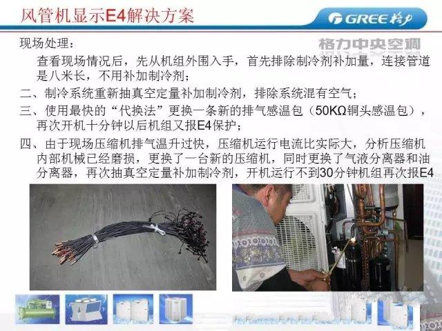 """格力5匹风管机,手操器显示""""E4""""怎么维修?"""
