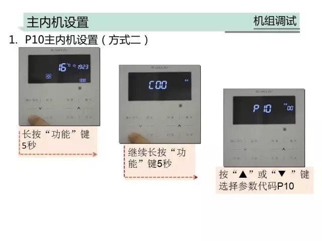 家用多联机手操器和商用手操器的操作方法一样
