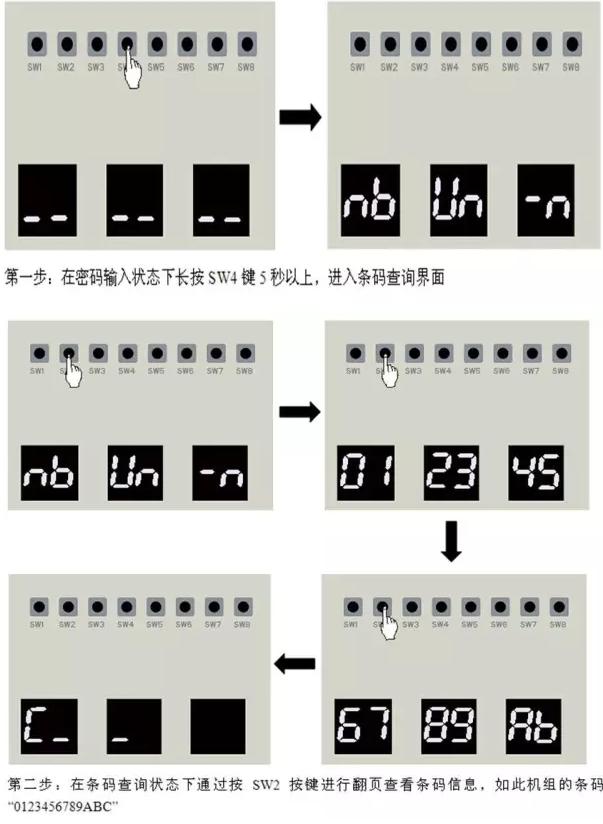 多联机通过外机主板的功能按键进行查询方法