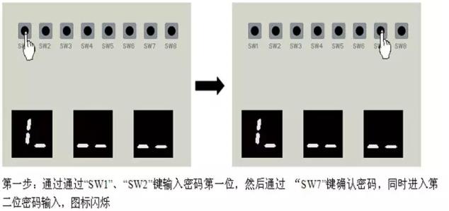 通过外机主板按键进行输入