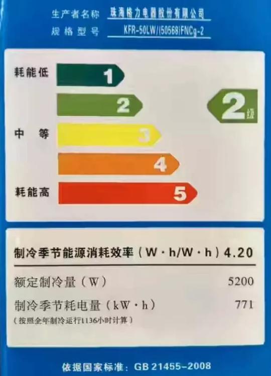 目前国家规定的家用空调能效比在 2. 6—3. 4, 共分为五级, 一级是最好的, 也就是能效比在 3. 24—3. 4 以上的属于最节能的一级空调产品