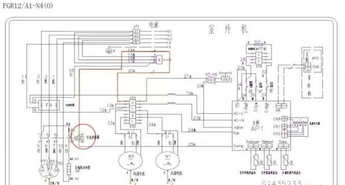 12风管机相许保护器输出的零线(参考下图)
