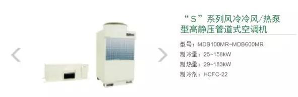 """七、""""S""""系列风冷冷风/热泵型高静压管道式空调机"""