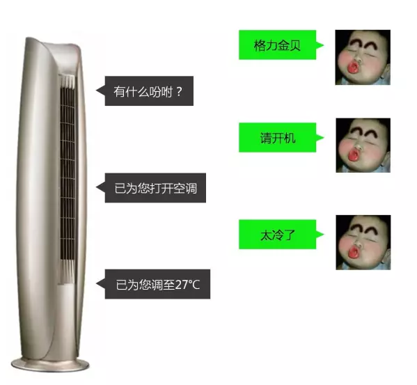 格力空调智能声控操作指引-格力金贝案例