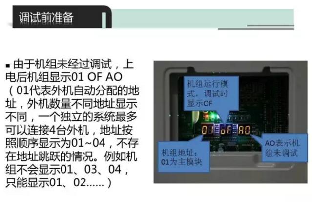 获取到开机密码以后,可以通过线控器和室外机主板上的按键输入开机密码,输入正确的密码以后