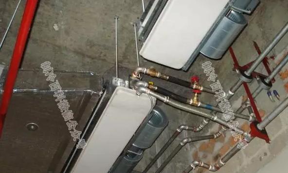 风机盘管现场安装式样(不带回风箱):