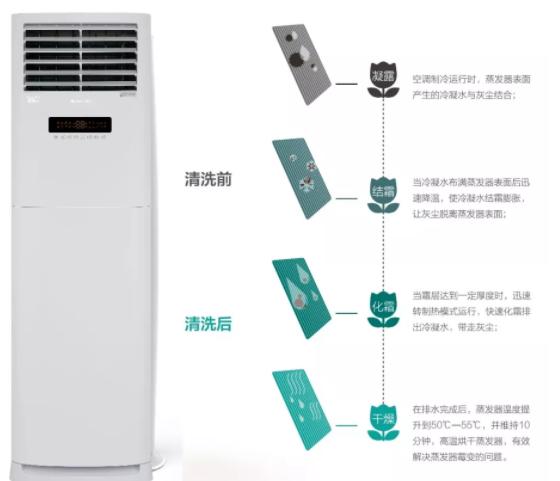 健康洁净:搭载蒸发器自洁技术(限变频)