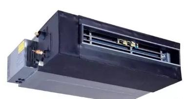 风管系统:室外机通过冷媒管与一台风管式室内机连接