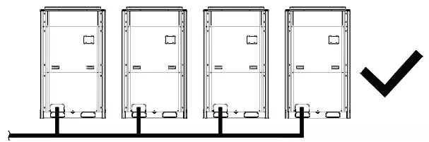 模块之间的管路均保持与模块管接口水平