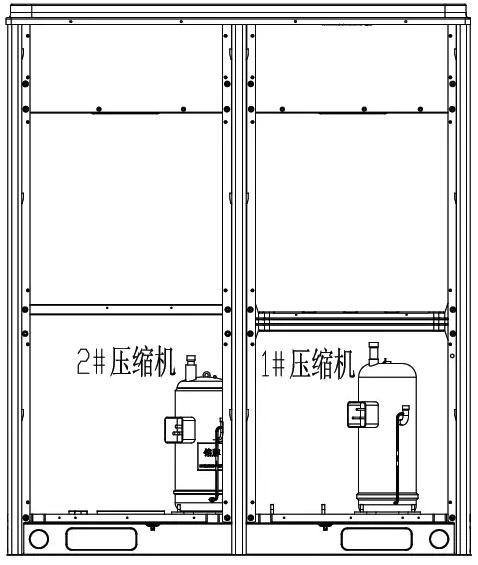 当2# 压缩机~ 6# 压缩机因为故障需要屏蔽运行时,按如下方法设置