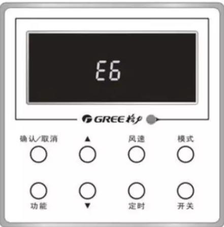 接线控器的内机,线控器显示如下