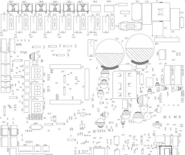 图1.8为  外机主板调试接口示意图