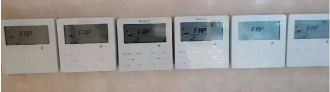 """多联机线控器接入新风室内机时,对应的线控器会显示新风室内机代码""""FAP"""""""