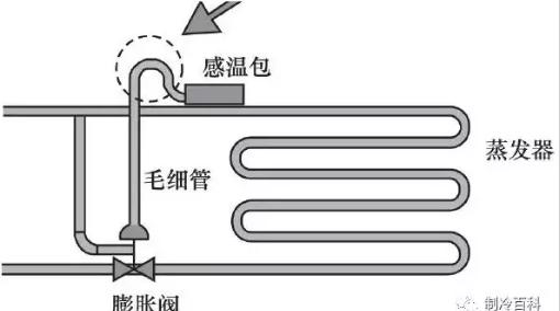 5、热力头内的液态工质始终保持在感温包内