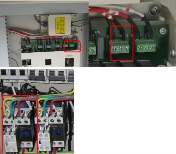 经过仔细排查发现是水泵的交流接触器线圈短路了,更换新的水泵交流接住器后故障排除