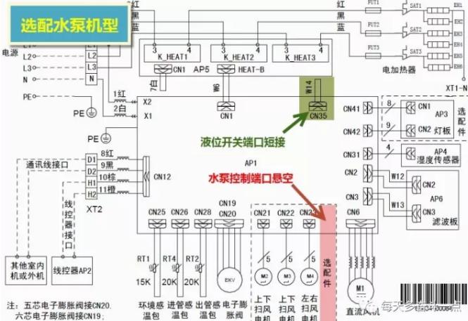 选配水泵机型线路图