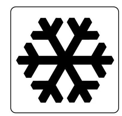 """把模式设置为""""制冷""""也就是下图雪花符号"""