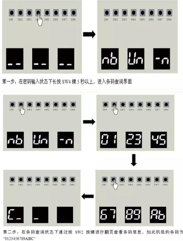 多联机通过外机主板的功能按键进行查询