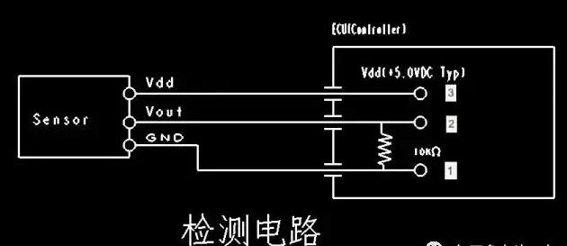 压力传感器检测电路中,一般黑色线为地线,接VH-3P的1孔