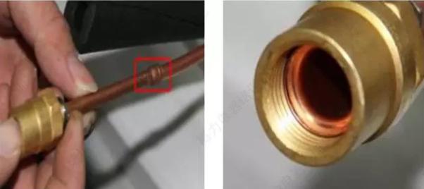 在连接管上焊接新防拆卸螺母配件