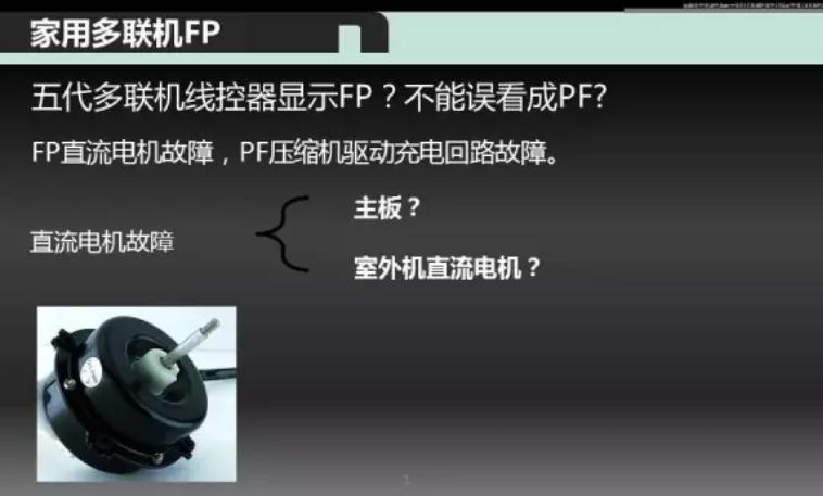 查询故障代码手册和故障代码表,FP代码是什么意思?是直流电机故障。