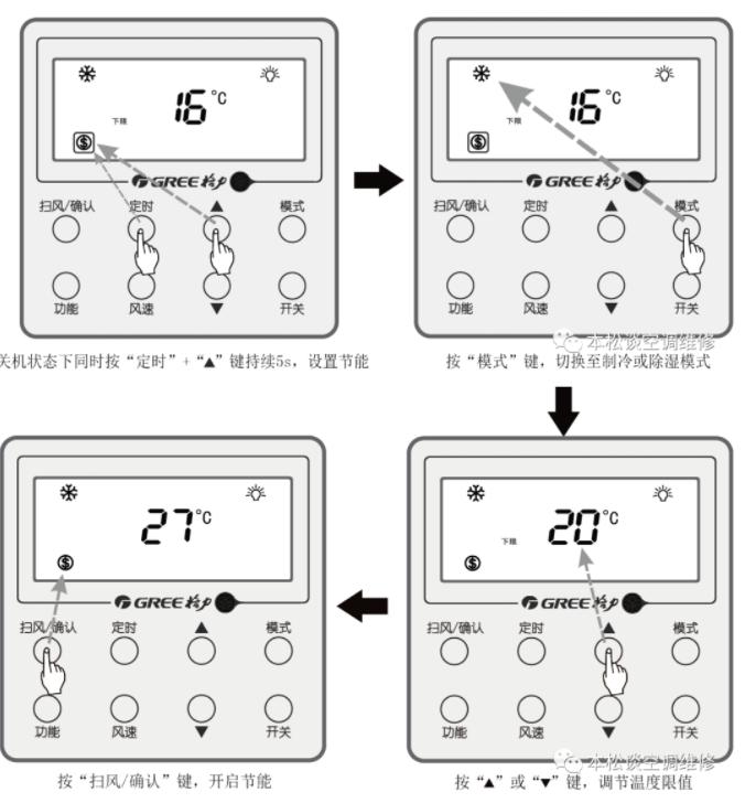 开启制冷节能功能设置如图所示: