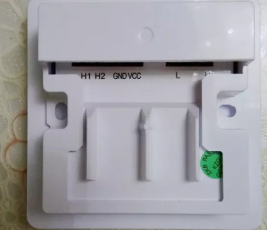 下图为xk78门禁线控器正反面,和普通线控器XK61一样都是触摸按键